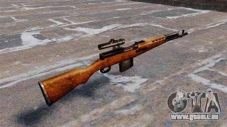 Das SVT-40-Scharfschützengewehr für GTA 4 Sekunden Bildschirm
