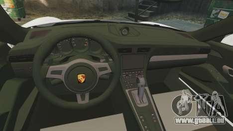 Porsche 911 GT3 (991) 2013 pour GTA 4 est une vue de l'intérieur