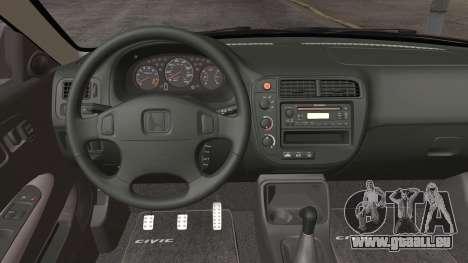 Honda Civic Si 1999 Coupe für GTA San Andreas Rückansicht