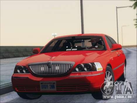 Lincoln Town Car 2010 pour GTA San Andreas laissé vue