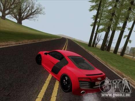 Audi R8 V10 Plus für GTA San Andreas Unteransicht