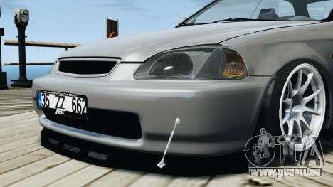 Honda Civic 1.6i ES pour GTA 4 Vue arrière