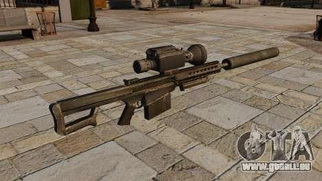 Barrett M82A1 fusil de sniper avec un silencieux pour GTA 4 secondes d'écran