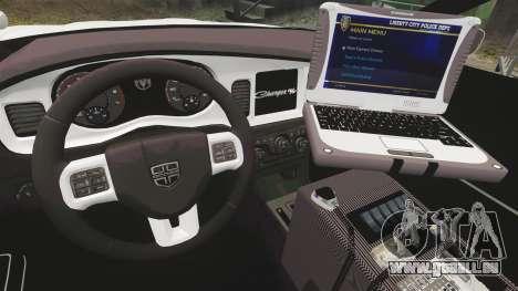 Dodge Charger 2012 NYPD [ELS] pour GTA 4 Vue arrière