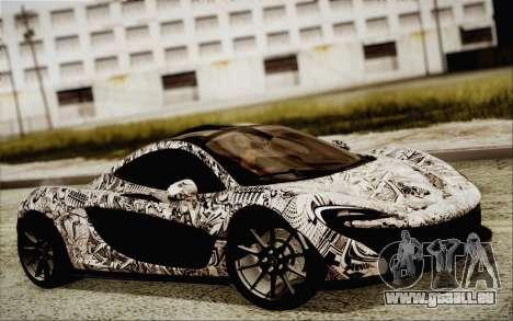 McLaren P1 2014 v2 für GTA San Andreas zurück linke Ansicht