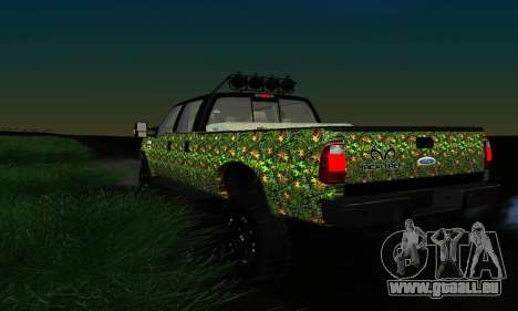 Ford F-250 Realtree Camo Lifted 2010 pour GTA San Andreas vue intérieure