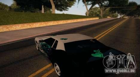 Vinyl for Elegy pour GTA San Andreas sur la vue arrière gauche