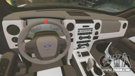 Ford F-150 SVT Raptor 2011 ECOBoost für GTA 4 Innenansicht