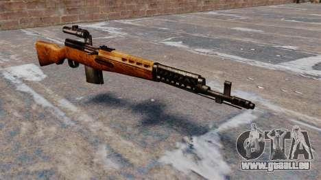 Das SVT-40-Scharfschützengewehr für GTA 4