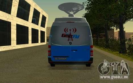 Mercedes Sprinter Entire FM pour GTA San Andreas vue de droite