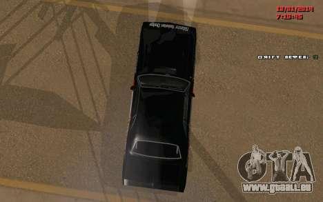 Challenger Missile für GTA San Andreas Rückansicht