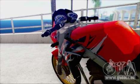 Kawasaki 150L Ninja Series pour GTA San Andreas sur la vue arrière gauche