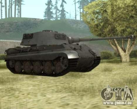 PzKpfw VIB Tiger II pour GTA San Andreas laissé vue
