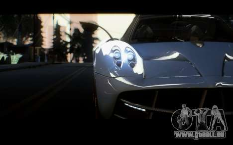 Pagani Huayra 2013 für GTA San Andreas zurück linke Ansicht