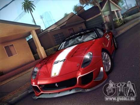 Ferrari 599XX 2012 für GTA San Andreas zurück linke Ansicht