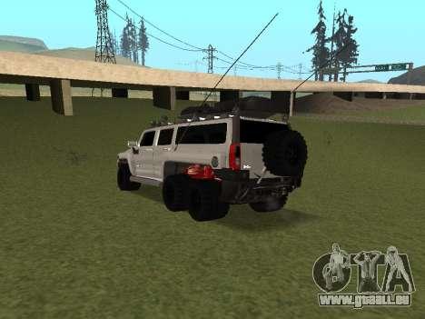 Hummer H3 6x6 pour GTA San Andreas sur la vue arrière gauche