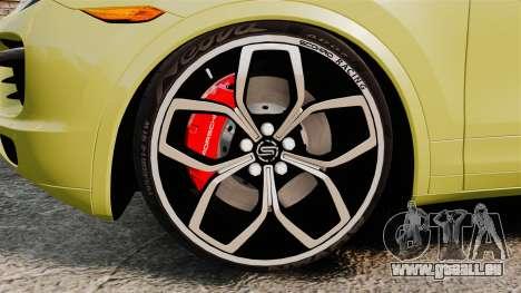 Porsche Cayenne 2012 SR pour GTA 4 Vue arrière