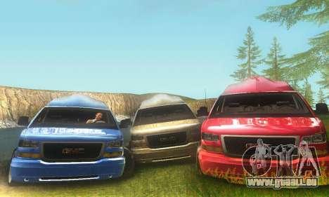 GMC Savana pour GTA San Andreas laissé vue