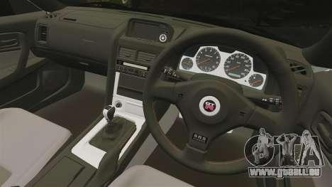 Nissan Skyline GT-R V-Spec II Mk.X [R34] pour GTA 4 est une vue de l'intérieur