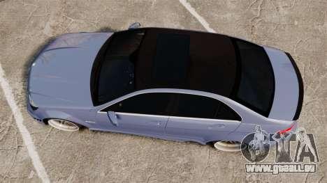 Mercedes-Benz C63 AMG 2010 pour GTA 4 est un droit