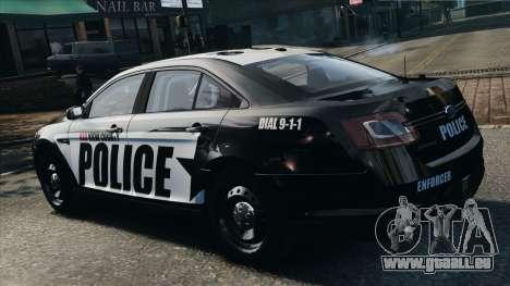Ford Taurus Police Interceptor 2010 pour GTA 4 est une gauche