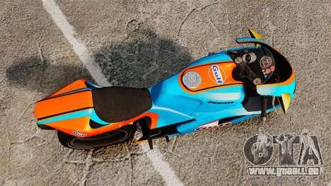 Ducati 848 Gulf pour GTA 4 Vue arrière de la gauche