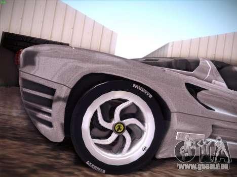 Ferrari P7 Chromo für GTA San Andreas Innen
