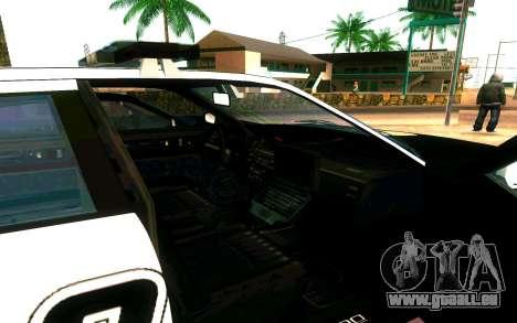 Police Buffalo GTA V für GTA San Andreas Rückansicht