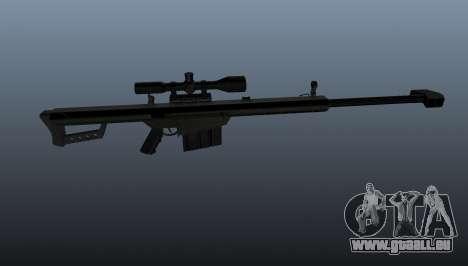 Barrett M82A1 fusil de sniper pour GTA 4 troisième écran