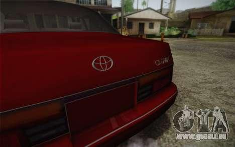 Toyota Crown Royal saloon g 3.0 für GTA San Andreas Rückansicht