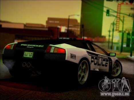 Lamborghini Murciélago Police 2005 pour GTA San Andreas salon