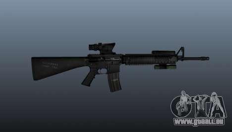 Fusil d'assaut AEG M16A4 pour GTA 4 troisième écran