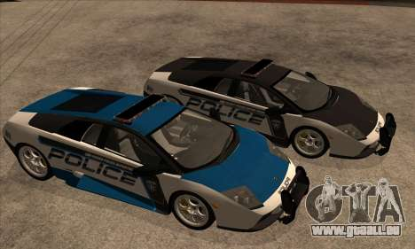Lamborghini Murciélago Police 2005 pour GTA San Andreas vue intérieure