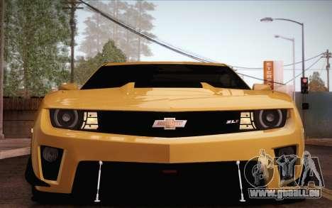 Chevrolet Camaro ZL1 für GTA San Andreas Unteransicht