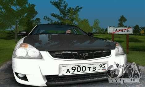 2170 De LADA Priora blanc & noir pour GTA San Andreas laissé vue