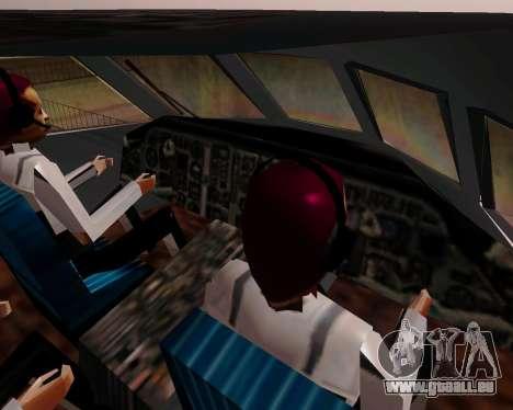 Yak-42 d UTair pour GTA San Andreas vue arrière