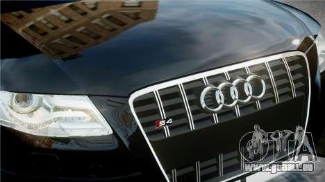 Audi S4 2010 pour GTA 4 Vue arrière
