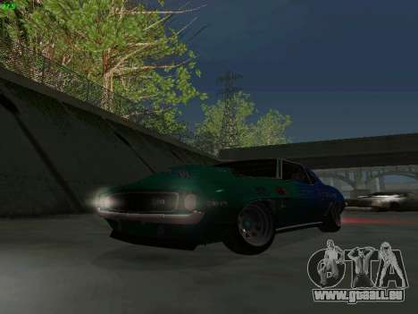 Chevrolet Camaro z28 Falken edition pour GTA San Andreas vue de côté