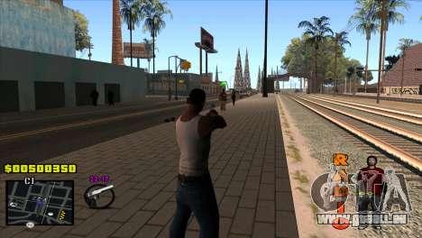 C-HUD Radio pour GTA San Andreas deuxième écran