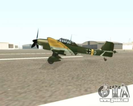 Junkers Ju-87 Stuka pour GTA San Andreas laissé vue