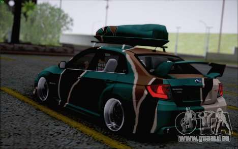 Subaru Impreza Arma pour GTA San Andreas sur la vue arrière gauche