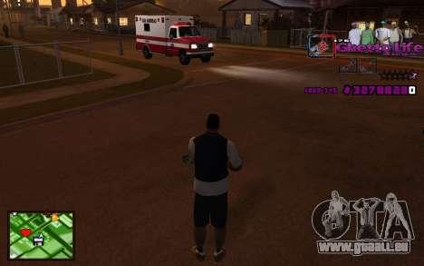 Avec HUD-Getto vie pour GTA San Andreas deuxième écran