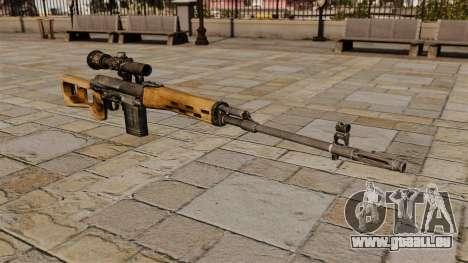 Fusil de précision Dragunov pour GTA 4