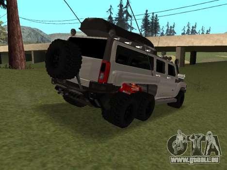 Hummer H3 6x6 pour GTA San Andreas vue de droite