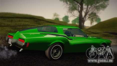 Buick Riviera 1972 Carbine Version pour GTA San Andreas sur la vue arrière gauche