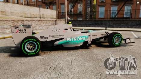 Mercedes AMG F1 W04 v4 für GTA 4 linke Ansicht