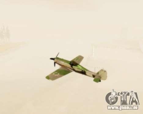 Focke-Wulf FW-190 D12 für GTA San Andreas Innenansicht