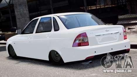2170 De Lada Priora Restajl pour GTA 4 Vue arrière de la gauche