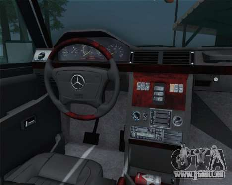 Mercedes-Benz G500 1999 Short pour GTA San Andreas vue intérieure