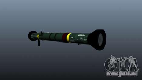 Panzerabwehr-Granatwerfer AT4-CS-HP für GTA 4 Sekunden Bildschirm